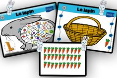 Le lapin Farm Animal Crafts, French Teacher, Speech And Language, Alphabet, Board Games, Projects To Try, Preschool, Place, Teaching