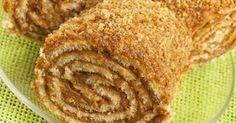 Рулет с грецкими орехами и медом.