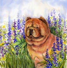 beautiful Chow Chow painting original on ebay...24 hours to go!!!! signed by artist Kathleen Dunn Zins
