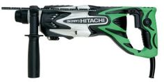The Hitachi DH24PF3 15/16-Inch 7 Amp SDS Rotary Hammer with D-Handle offers some of the fastest drilling available in a rotary tool. This Hitatchi rotary hammer has an astounding 2.5 feet-per-pounds of impact energy. The 7 Amp motor that powers this tool is capable of drilling 1/2-inch in steel, 15/16-inch in concrete and 2-inch core bits. This rotary hammer is 16-inch long and is only 5.3 pounds. The quick set bit change system allows SDS bits to be switched easily.