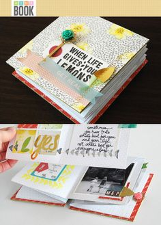 Mini Book Mini Workshop - Nicole Reaves at @Studio_Calico - Put away the binder rings and prepare to be inspired by a fun new mini book construction technique with Nicole Reaves! Follow along as she shows you, step-by-step, how to prepare, fold and assemble a unique 4x4 album full of photos, stories and memories!