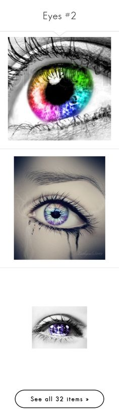 """""""Eyes #2"""" by aj-the-creepypasta ❤ liked on Polyvore featuring eyes, beauty products, makeup, eye makeup, backgrounds, pictures, drawings, beauty, maquiagem and loose powder makeup"""