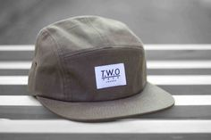Brown Waxed Cotton 5-Panel