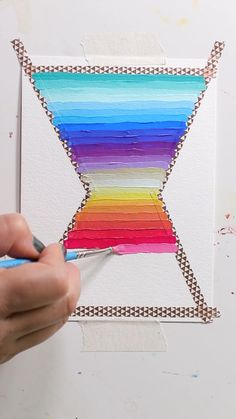 Gouache Stripes and Tape Peel by Josie Lewis Check out Josie's book for tons of great painting ideas! Gouache Painting, Diy Painting, Painting & Drawing, Tape Painting, Painting Videos, Watercolor Pattern, Watercolor Paintings, Watercolour, Art Sketches