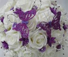 purple wedding flower bouquet - Google Search