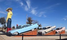 """"""" Cadillac Ranch Gift Shop """" in Amarillo Texas  """" Route 66 on My Mind """" Route 66 blog ; http://2441.blog54.fc2.com https://www.facebook.com/groups/529713950495809/ http://route66jp.info"""