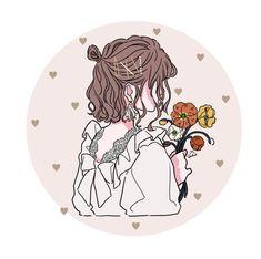 Cartoon Girl Images, Cartoon Art Styles, Girl Cartoon, Cute Little Drawings, Girly Drawings, Cute Anime Pics, Cute Cartoon Wallpapers, Cute Illustration, Anime Art Girl