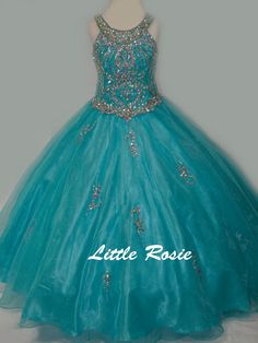Little Rosie Long Pageant Dresses Pagent Dresses, Girls Pageant Dresses, Gowns For Girls, Wedding Dresses For Girls, Pageant Gowns, Ball Gown Dresses, Little Girl Dresses, Homecoming Dresses, Baby Girl Wedding Dress