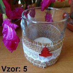 Sklenený svietnik Jarko - Sviečka - S čajovou sviečkou (plus 0,10€), Vzor - Vzor 5