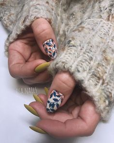 71 Fall Nail Designs to Fall in Love with: Fall Nails to Inspire Best Nail Art Designs, Fall Nail Designs, Acrylic Nail Designs, Creative Nail Designs, Acrylic Nails, Cute Nails, Pretty Nails, Hair And Nails, My Nails