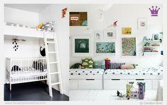 ♥ ¿Problemas de espacio? Habitaciones infantiles compartidas ♥