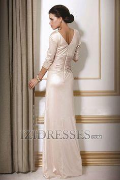 Sheath/Column V-neck Mother Of The Bride Dress - IZIDRESSES.COM teal