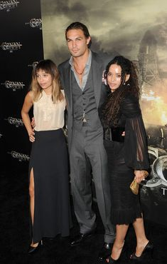 """Lisa Bonet Jason Momoa Photos Photos - (L-R) Zoe Kravitz, Jason Momoa, and Lisa Bonet attend the world premiere of 'Conan The Barbarian' held at Regal Cinemas L.A. Live on August 11, 2011 in Los Angeles, California. - Premiere Of Lionsgate Films' """"Conan The Barbarian"""" - Arrivals"""
