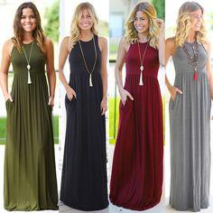 Cheap Dresses, Buy Directly from China Suppliers:FEITONG Women Solid Dress Summer Boho Style Print Dresses Long Floor Length Elegant vestidos Fashion Beach Sundrss Maxi Dress