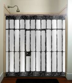 jail prison cell funny shower curtain bathroom by TablishedWorks, $67.00