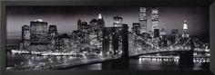New York City Manhattan Night Skyline