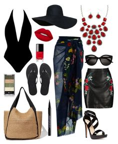 """""""Beach Beauty"""" by szharg on Polyvore featuring STELLA McCARTNEY, Lime Crime, Havaianas, Boohoo, Nine West, Chanel and Urban Decay"""