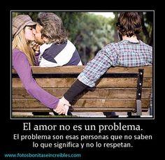 Imagenes para compartir: El amor no es un problema. imágenes para facebook. Las mejores Imagenes para decorar la portada de tu perfil de facebook.