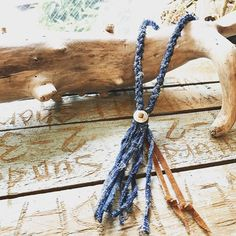 African Indigo Necklace.  #standardcalifornia #スタンダードカリフォルニア #africanfabrics #necklace #handlight