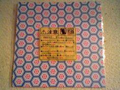 "Unused Oragami paper & Japanese usagi rabbit instructions! 8 sheets,almost 6""x6"" #"