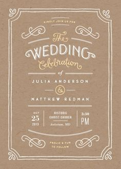 Invitation - a classy but simple option