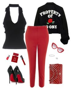 """""""#29"""" by heelsandgo on Polyvore featuring Bliss Diamond, Maison Margiela, Topshop, Moschino, Plein Sud, Christian Louboutin, Chanel, Couture Colour and Bella Freud"""