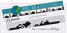 Pixel Art thème Tour du Monde