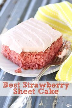 Best Strawberry Sheet Cake