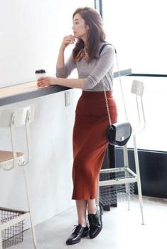 Ideas Skirt Outfits Fall Casual For 2019 - Long skirt outfits for fall - Trendy Dresses, Modest Dresses, Nice Dresses, Casual Dresses, Casual Wear, Casual Fall, Hijab Casual, Casual Boots, Classy Outfits