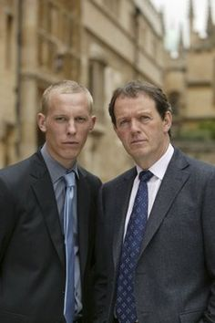 "Sergeant Hathaway (Lawrence Fox) and Inspector Lewis (Kevin Whatley) of ""Masterpiece Mystery."" (Click to enlarge)"