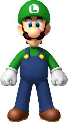 Luigi as seen on New Super Mario Bros. Luigi is portrayed as the… Super Mario Bros, Mario Bros Png, Super Mario Birthday, Mario Birthday Party, Super Mario Party, Super Mario Brothers, Super Smash Bros, Super Nintendo, Mario Kart