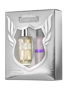 Set cadou barbati Invincible Champion - Apa de parfum + Deodorant spray