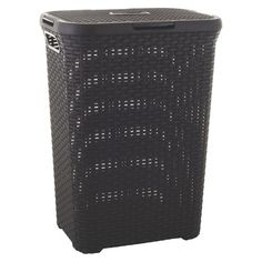 Curver Style 60L Hamper - Dark Brown