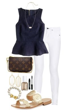 """""""Patti's puzzler contest"""" by marinampetrillo ❤ liked on Polyvore featuring Kendra Scott, rag & bone, J.Crew, Jack Rogers, Kate Spade, Louis Vuitton, Essie, Lord & Berry, Pattispuzzler and Marinasbest"""