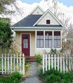 tiny house  small red door