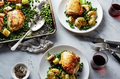 Nigella Lawson's Chicken and Pea Traybake recipe on Food52