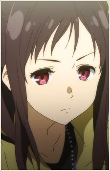 Sakura Inami,A daughter of a family to whom Mirai is indebted to. With a monotonous speech pattern and an almost emotionless face, Sakura is portrayed as a girl transformed by revenge into a single-minded machine bent on killing the one responsible for the death of her sister.