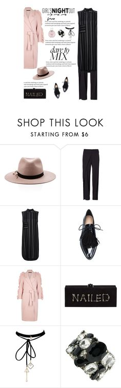 """Untitled #2753"" by amimcqueen ❤ liked on Polyvore featuring Eugenia Kim, Reed Krakoff, Monsoon, Loeffler Randall, Mother of Pearl, Edie Parker, WithChic, Giorgio Armani and Chanel"