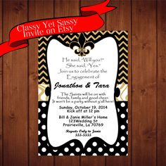 Pin By Tiffany Langford On Geaux Baby Engagement Party Invitations Couples Shower