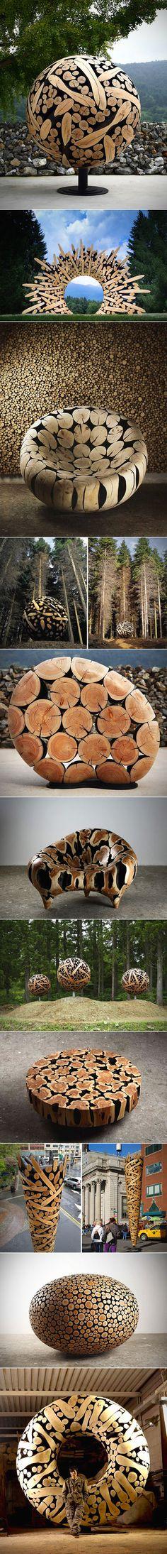 Tree Trunk Sculptures