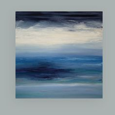 Art Painting Acrylic Abstract Beach Seascape on by OraBirenbaumArt, $485.00