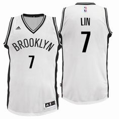 953149ac9 Brooklyn Nets  7 Jeremy Lin 2016 Home White New Swingman Jersey Dodgers  Baseball