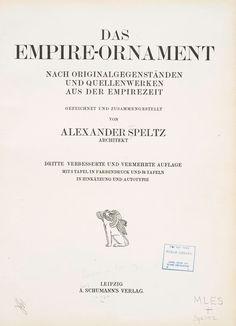 Empire-ornament nach originalgegenständen und q...