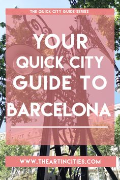 Are you planning a trip to Barcelona any time soon? Or are you dreaming of going to the capital of Catalunya? Well, I've written here a handy post about what there is to do in Barcelona from the streets, culture, architecture and even where to shop! Click the link (or image) to read all about it!
