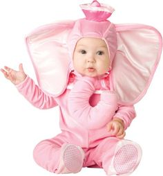 Lil Characters Unisex-baby Infant Pink Elephant Costume, Pink, Medium - .x{color:#83C22D;margin:0px;font-size:12px}.y{color:#A56EBA}LITTLE BABY PINK ELEPHANT COSTUMEBaby Animal Costumes(Item #ANML197-B128)Size: 12-18 monthsIncludesJumpsuit Hood    This Little Baby Pink El... - Baby Girls - Apparel - $17.19