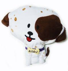 Almofada infantil no formato cachorrinho dálmata....