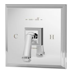 Symmons Oxford 1-Handle Shower Valve and Trim in Chrome (Grey)