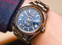 """Hands-On with the newest Rolex Sky-Dweller models. Coming in two-tone Steel & Gold. Rolex launches the new Sky-Dweller line introducing some tweaks with """"Rolesor"""" model options. They got more accessible prices and new hands & indexes. Discover the new models on our site, live now!"""
