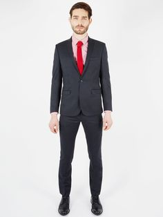 Plain Twill Camden Fit Suit Trouser | Phantom | Ben Sherman