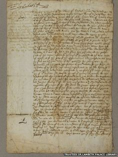 Death Warrant for Mary, Queen of Scots, signed by Elizabeth I
